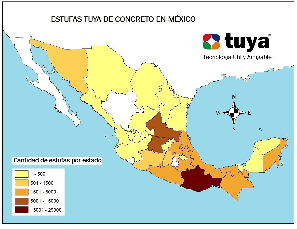 ESTUFAS TUYA EN MÉXICO 2008-2016